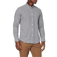 MERAKI camicia regular fit in cotone a maniche lunghe uomo, nero (black), xxx-large