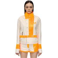 COURREGES giacca in cotone e vinile