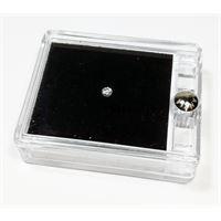 Notini diamante naturale sigillato in blister con prestigiosa confezione in pelle - ct. 0. 15 f vsi brillante