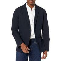 Goodthreads marchio amazon — Goodthreads, blazer da uomo in seersucker, aderente, navy / black, us l (eu l)
