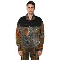 HERON PRESTON giacca ctnmb in denim di cotone tie dye