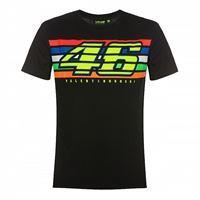 VR46 t-shirt VR46 46 stripes nero