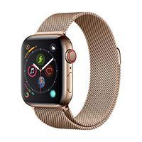 Apple watch series 4 (gps + cellulare) cassa 40 mm in acciaio inossidabile color oro e loop in maglia milanese color oro