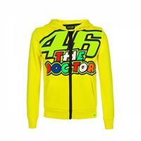 VR46 felpa bambino VR46 46 the doctor stripes giallo fluo