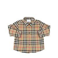 BURBERRY camicia in popeline di cotone check