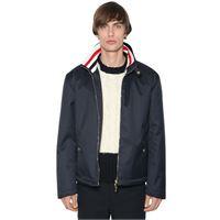 THOM BROWNE giacca in techno tela con zip
