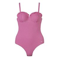 Beco costume intero da donna rock-a-bella con swim chic, donna, badeanzug-rock-a-bella swim chic, rosa/bianco, 36