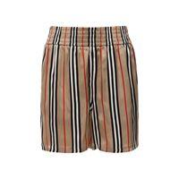 BURBERRY shorts in twill di seta check