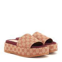 Gucci sandali in tessuto original gg con platform