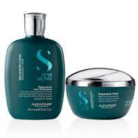 Kit alfaparf - semi di lino reconstruction shampoo e mask