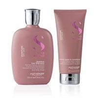 Kit alfaparf - semi di lino moisture shampoo e leave-in conditioner