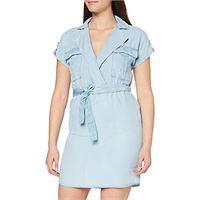 Noisy May NOS DE nmvera s/s endi tencel shirt dress noos vestito, blu (light blue denim light blue denim), 44 (taglia produttore: medium) donna