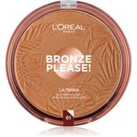 L'Oréal Paris wake up & glow la terra bronze please! Bronzer e cipria per contouring colore 01 portofino leger 18 g