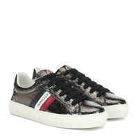 Moncler sneakers ariel in vernice craquelã©