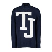 TOMMY JEANS maglione dolcevita logo TOMMY JEANS