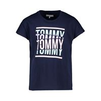 TOMMY HILFIGER t-shirt tommy cut oversized bambina