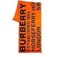BURBERRY sciarpa imbottita in seta con stampa logo