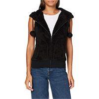 Urban Classics ladies teddy vest canottiera, nero (black 7), xl donna