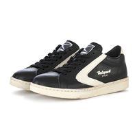 VALSPORT scarpe donna sneakers pelle martellata nero / crema VALSPORT