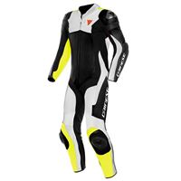 Dainese assen 2 perforated leather 44 black / white / fluo yellow