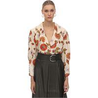 DODO BAR OR blusa in crepe de chine stampata
