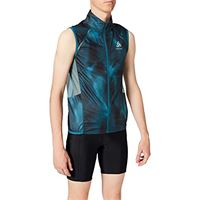 Odlo, vest omnius light macchia, uomo, 312272, blue coral - aop fw18, s