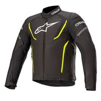 Alpinestars giacca moto Alpinestars t-jaws v3 waterproof nero giallo fluo