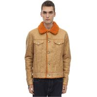 STAND giacca in eco shearling distressed