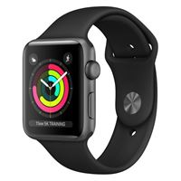 Apple watch serie 3 42mm space grey black sport band