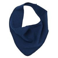 Reiff triangolo sciarpa in spugna di lana seta - col. Blu