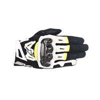 Alpinestars guanti smx-2 air carbon v2 nero bianco giallo