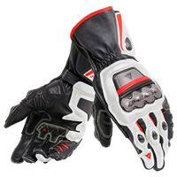Dainese guanti full metal 6 nero bianco rosso