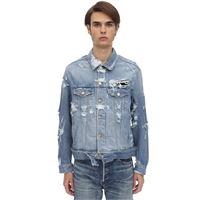 VETEMENTS giacca in denim di cotone con logo