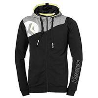 Kempa core 2.0 giacca con cappuccio cappotto, unisex, core 2.0 kapuzenjacke, schwarz/dark grau melange, xxxl