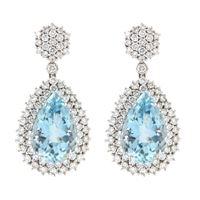 Crivelli orecchini a goccia acquamarina e diamanti crivelli