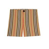 Burberry Kids shorts icon stripe in cotone