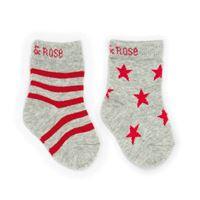 BLADE & ROSE calzini marl grigio/rosso 0-6 mesi