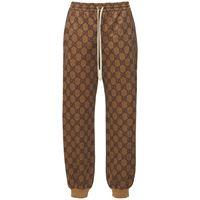GUCCI pantaloni in jersey di cotone gg supreme