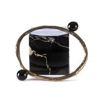 TOLEMAIDE accessori donna bracciale fatto a mano rigido nero TOLEMAIDE