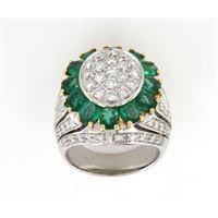 Crivelli anello fascia fantasia smeraldo diamanti crivelli