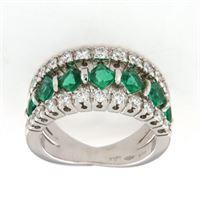 Crivelli anello fascia smeraldi 1,55 diamanti 0,82 crivelli