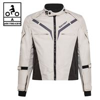 BEFAST giacca moto befast gamma ce certificata nero grigio