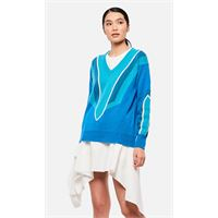 Adaptation maglione con scollo a v