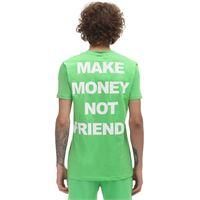 MAKE MONEY NOT FRIENDS t-shirt in jersey di cotone con logo