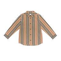 Burberry Kids camicia a righe in cotone