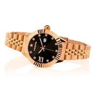 Hoops orologio hoops new luxury diamonds in acciaio 2619ld rg02 rose gold black