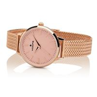 Hoops orologio hoops classic maglia milanese gold in acciaio 2614l-rg03 cipria