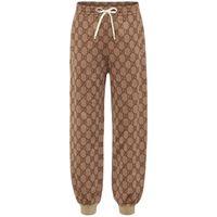 Gucci pantaloni sportivi in misto cotone gg