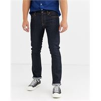 Nudie Jeans co - grim tim - jeans slim dritti blu navy lavaggio autentico dry