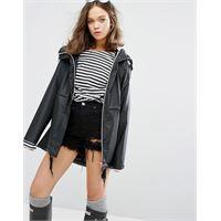 Hunter original - giacca antipioggia nera da donna-nero
